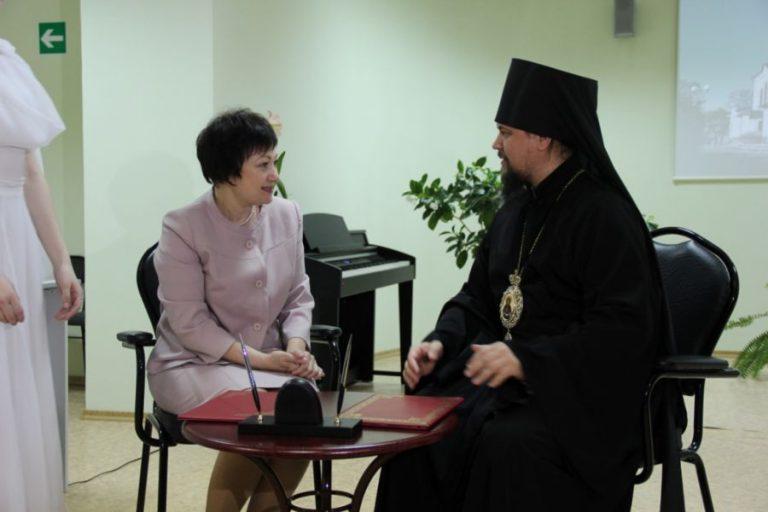 Торжественная Церемония подписания  Соглашения о сотрудничестве между   «Биробиджанским колледжем культуры и искусств» и «Биробиджанской Епархией Русской Православной Церкви»