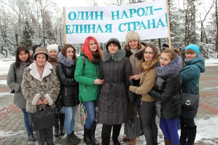 Участие преподавателей и студентов в митинге – концерте «Крымская весна»