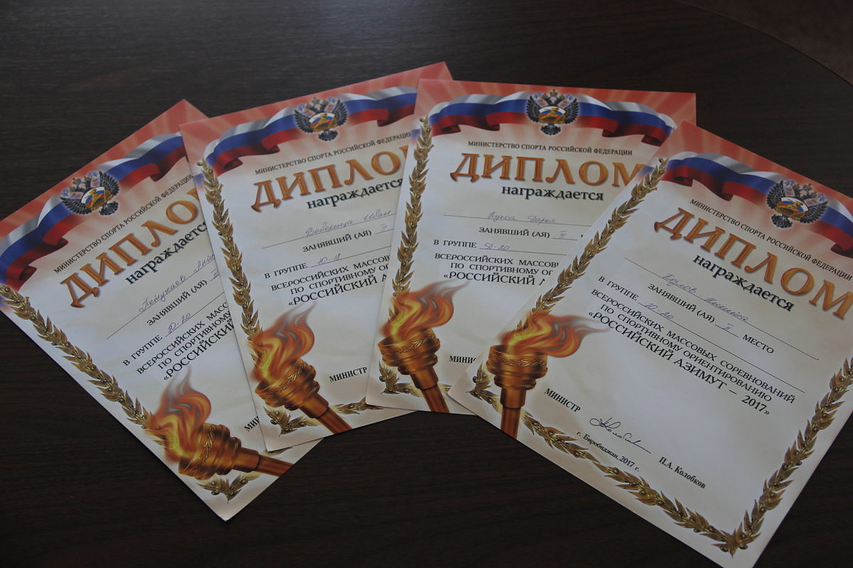 Четыре Победы во Всероссийских массовых соревнованиях по спортивному ориентированию «Российский азимут – 2017» завоевали студенты колледжа