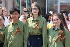 Студенты колледжа приняли участие во Всероссийской акции «Георгиевская ленточка»