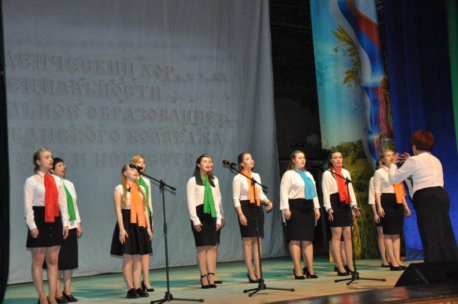 Студенческий хор специальности Музыкальное образование принял участие во Всероссийской хоровой акции