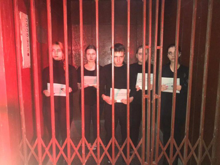 Участие студентов в театральном проекте «Публичное чтение Солженицына. Крохотки»