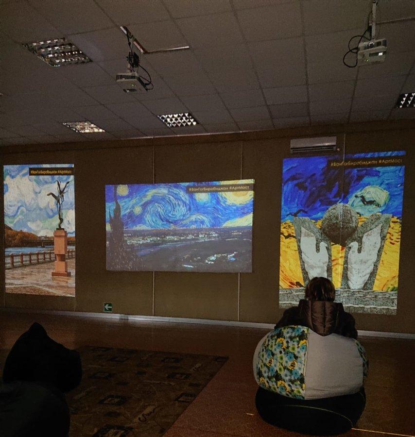 Открытие интерактивной выставки «Ожившие полотна Ван Гога» в МСИ