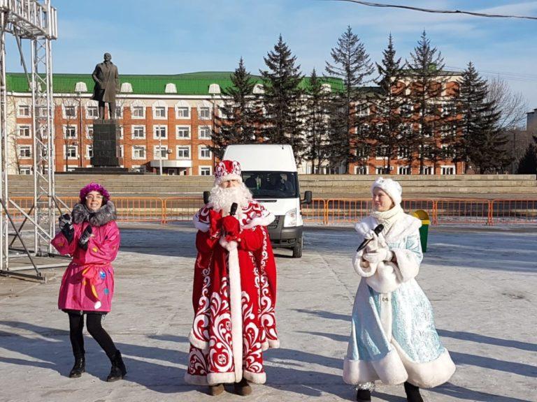 Представление в Новогоднем городке подготовили волонтеры колледжа