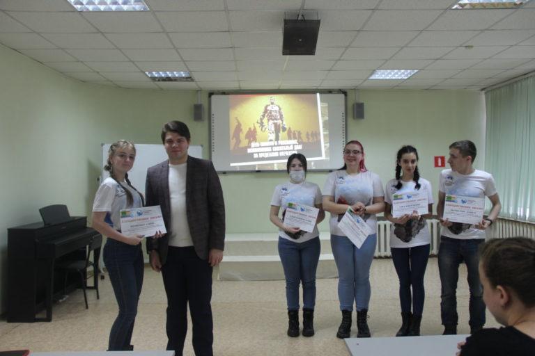 Благодарственные письма вручены студентам — Волонтерам Победы