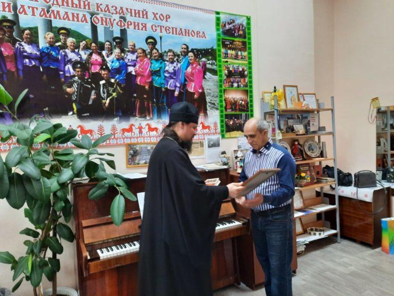 Архиепископ Ефрем вручил Благодарность преподавателю колледжа Казинцу Владимиру Анатольевичу